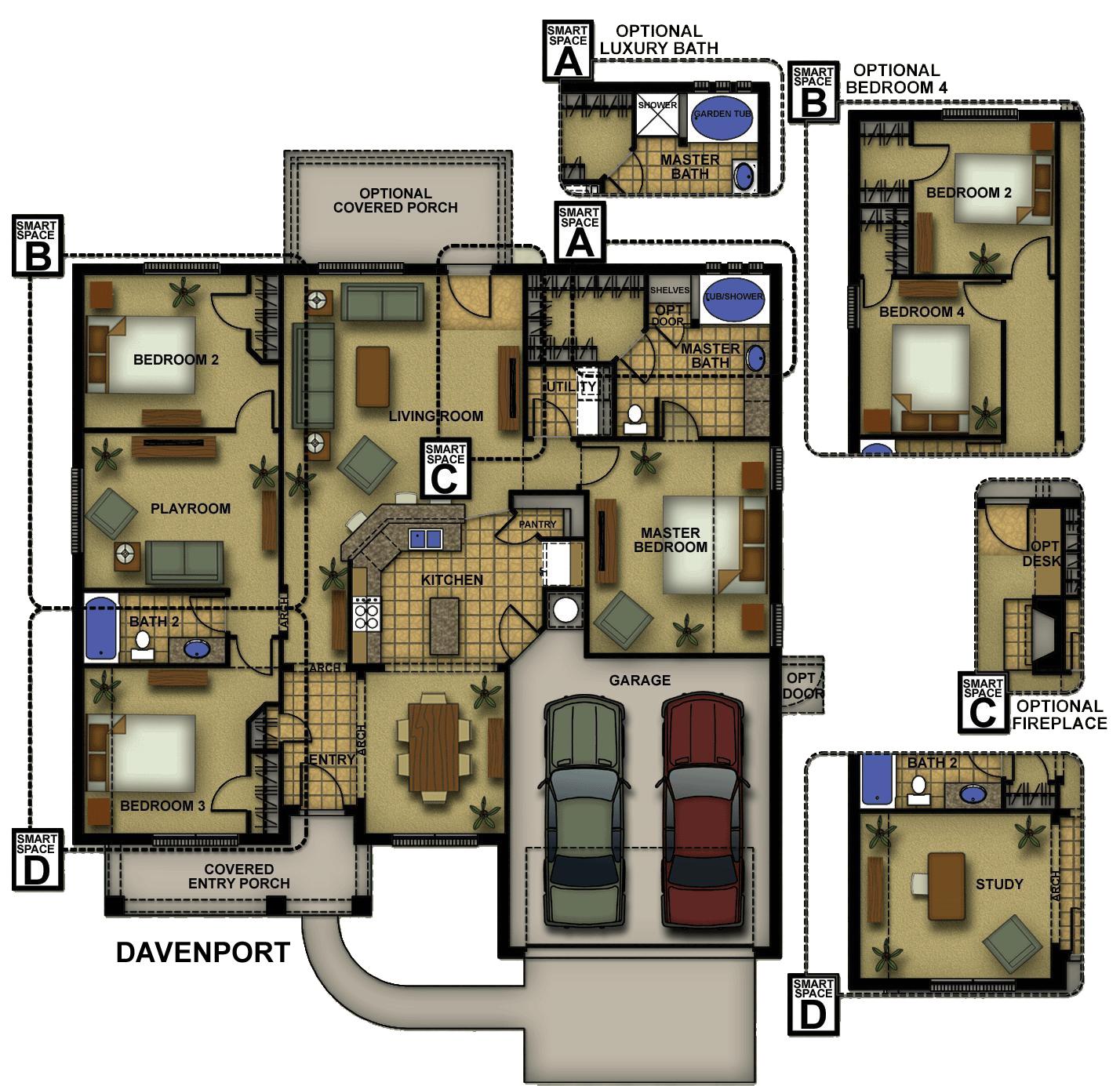 Davenport-II Floorplan
